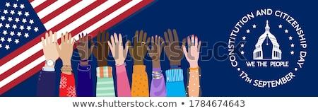 amerikaanse · kiezer · persoon · vlag · Verenigde · Staten · amerika - stockfoto © lightsource