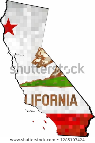 grunge · California · bandera · mapa · aislado · blanco - foto stock © speedfighter