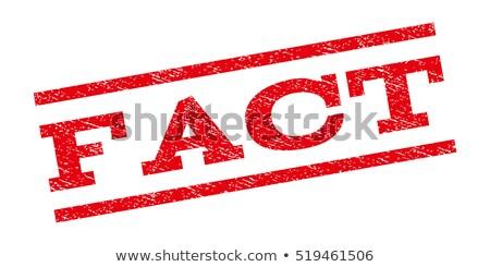facts rubber stamp stock photo © burakowski