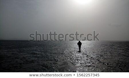 sétál · sár · láb · Wellington · csizma · víz - stock fotó © meinzahn