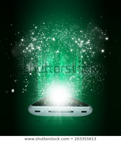 Telefone móvel queda estrela arte bola natal Foto stock © impresja26