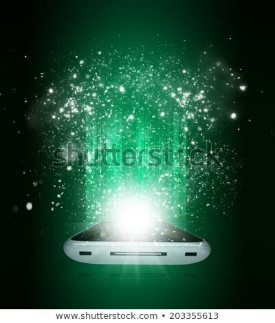mobiele · telefoon · vallen · star · kunst · bal · christmas - stockfoto © impresja26