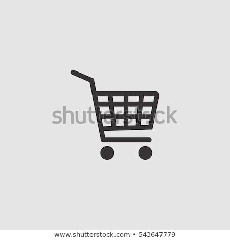 supermarkt · iconen · vector · vis · winkelen - stockfoto © vectorpro