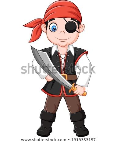 Mały chłopca cygara ciemne garnitur Zdjęcia stock © runzelkorn