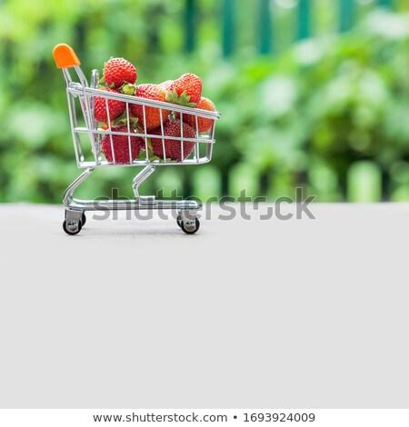 клубники корзины свежие миниатюрный здоровья магазин Сток-фото © kimmit