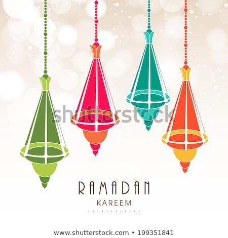 Ramadan religijnych zielone kolorowy błyszczący wektora Zdjęcia stock © bharat