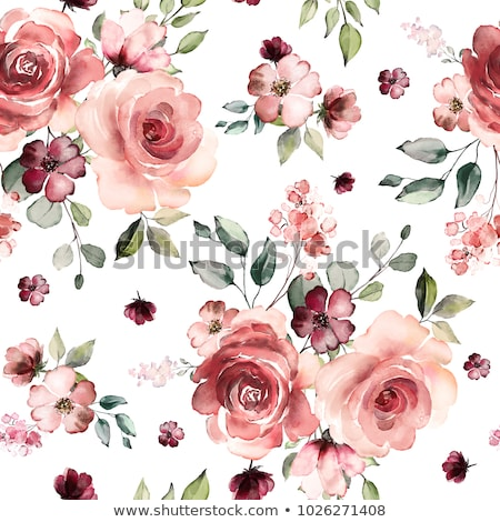 Stock fotó: Végtelen · minta · rózsák · virágok · absztrakt · rózsaszín · izolált