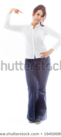 Asian young woman pointing at herself isolated over colored background Stock photo © bmonteny