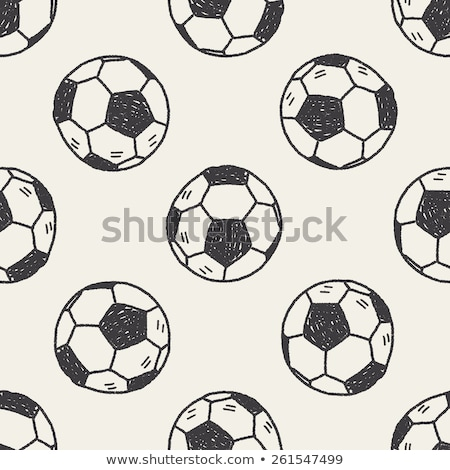 Sketch football ball, vector seamless pattern Stock photo © kali