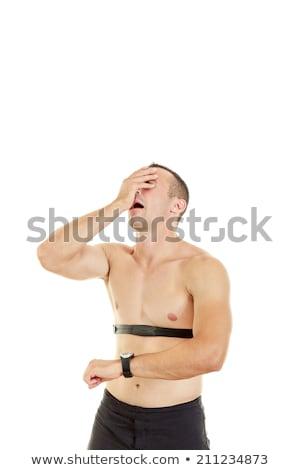 mér · pulzus · szívverés · otthon · stressz · sportoló - stock fotó © feelphotoart