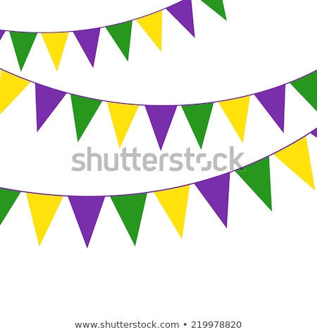 Mardi Gras party bunting Stock photo © gladiolus