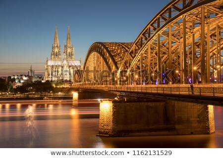 sunrise in cologne with Dome and river Rhine  Stock photo © meinzahn