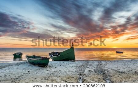 Barco praia mar báltico sol oceano azul Foto stock © meinzahn