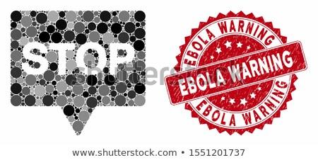 ウイルス · スタンプ · 紙 · 3D · コンピュータ - ストックフォト © zerbor
