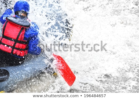 Rafting río Nueva Zelandia agua barco Foto stock © dirkr