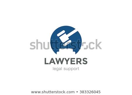 Richter · Auktion · Stil · linear · Symbol · Hintergrund - stock foto © smeagorl