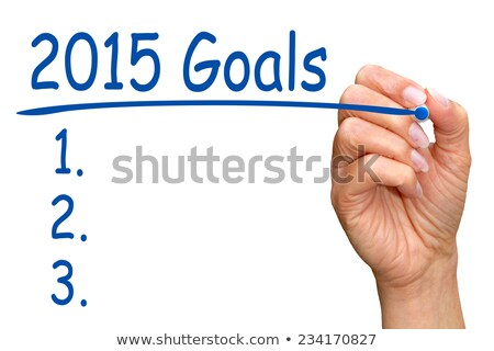 goals 2015 hand blue marker stock photo © ivelin