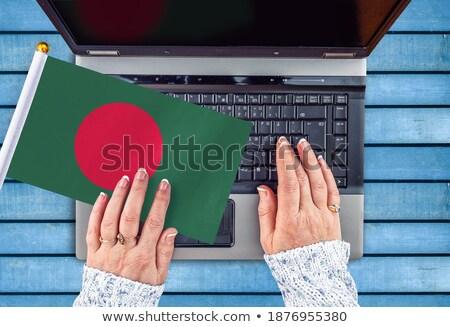 Handen werken laptop Bangladesh tonen scherm Stockfoto © michaklootwijk
