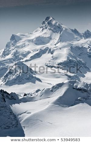 Neige couvert belle montagne Rock train Photo stock © papa1266