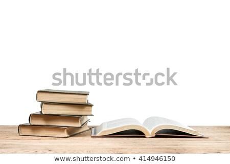 Open · boek · boeken · geïsoleerd · papier · boek - stockfoto © valeriy