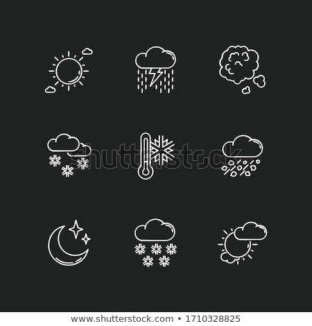Sağanak hava durumu semboller tahta ışık ağır Stok fotoğraf © PixelsAway
