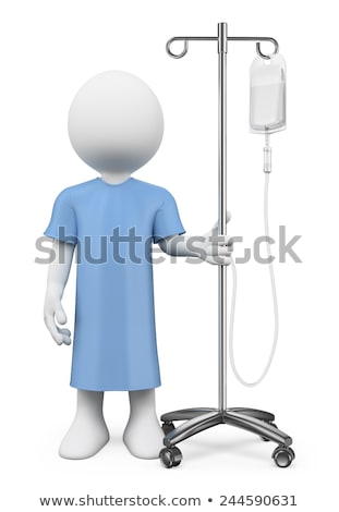 3d white people patient in hospital with serum stock photo © texelart