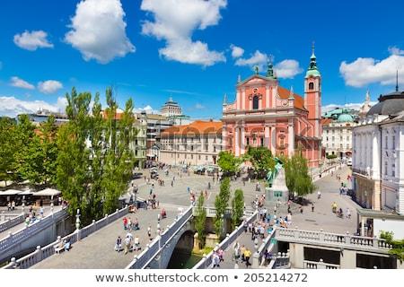 квадратный Словения Европа романтические город центр Сток-фото © kasto