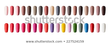 Colorful frame. Figures on nails against a white background. Stock photo © RuslanOmega