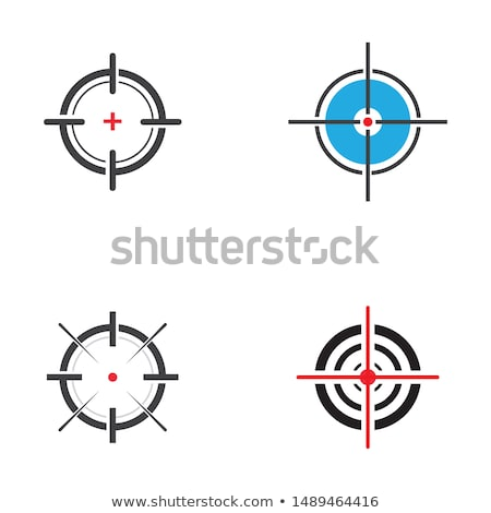 Rood · pistool · zicht · geïsoleerd · oog - stockfoto © blumer1979