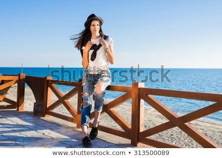 uwodzenie · biały · piasek · zdjęcie · uwodzicielski - zdjęcia stock © lightpoet