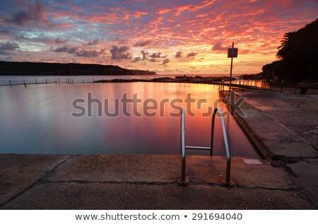 日の出 長い オーストラリア 太陽 地平線 ストックフォト © lovleah