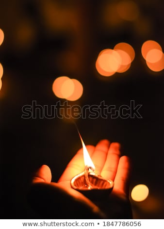 floue · belle · diwali · lumières · feu - photo stock © ziprashantzi