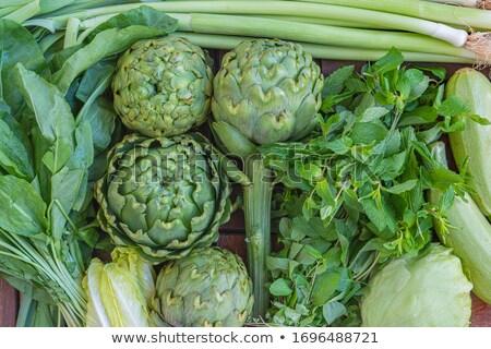 Zöldség egyezség sekély egészség tányér szakács Stock fotó © fanfo