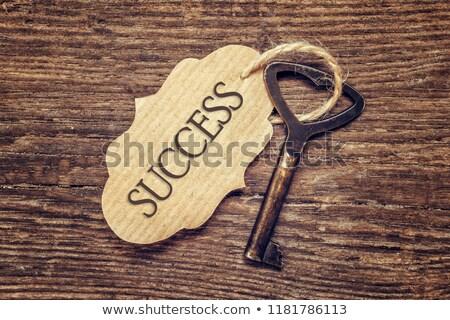 becsület · köteg · kulcsok · szöveg · arany · fekete - stock fotó © tashatuvango