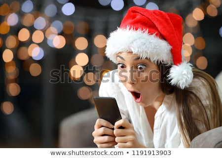 Exciting Christmas girl Stock photo © elwynn