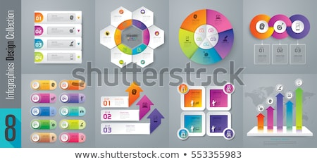 modern vector abstract 3d bar infographic elements stock photo © jiunnn