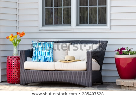 Comfortable outdoor living area on a brick patio Stock photo © ozgur