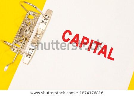 Pronóstico palabra carpeta tarjeta atención selectiva información Foto stock © tashatuvango