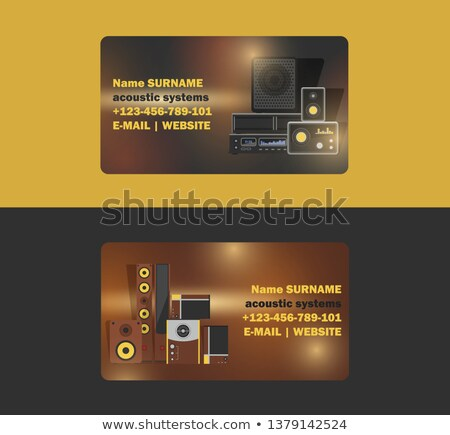 entertainment card with speakers Stock photo © get4net