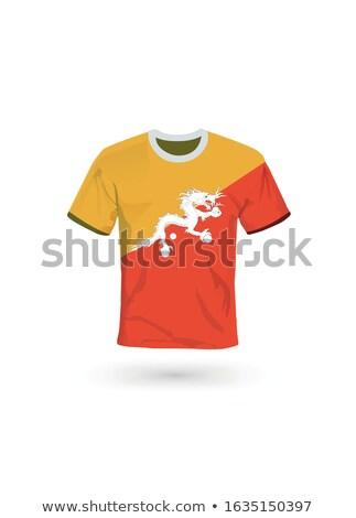 Vlag shirt ontwerp Bhutan vrouw man Stockfoto © ojal
