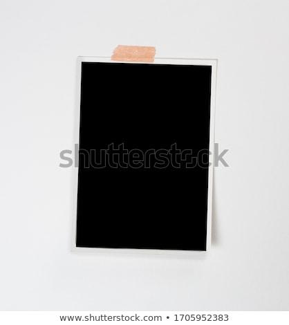 Polaroid quadros papel filme arte preto Foto stock © Suljo