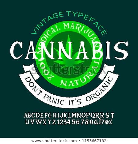 Foto stock: Marijuana Badge