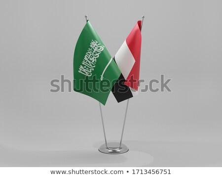 Arábia Saudita Iémen bandeiras quebra-cabeça isolado branco Foto stock © Istanbul2009