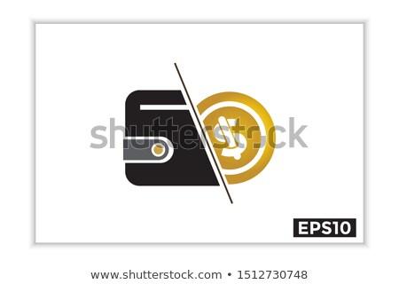 Photo stock: Bouclier · signe · du · dollar · échange · doodle · icône · excellente