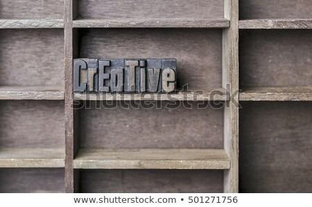 アイデア · 言葉 · 古い · 印刷 · ブロック - ストックフォト © zerbor