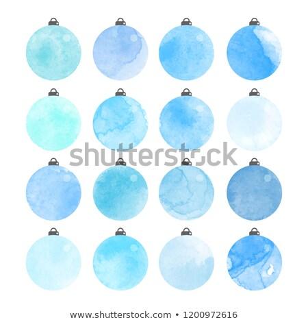 indigo merry christmas ball Stock photo © netkov1