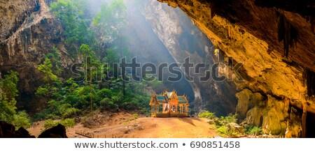 grot · ondergrondse · rock · steen · oude · bruin - stockfoto © master1305