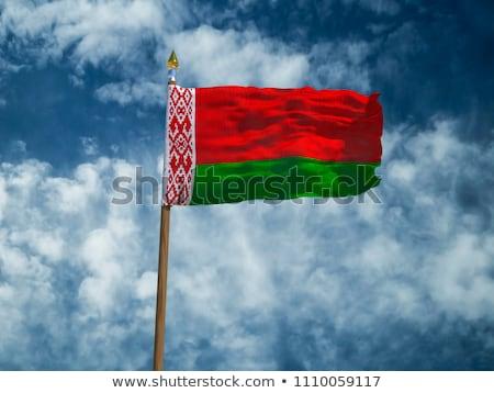 Беларусь стране флаг карта форма текста Сток-фото © tony4urban
