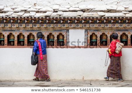 Bhutan land vlag kaart vorm tekst Stockfoto © tony4urban