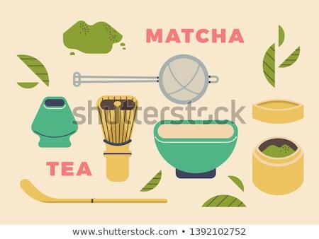 вектора чай церемония иллюстрация икона Сток-фото © TRIKONA